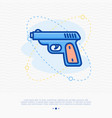 shooter game thin line icon vector image
