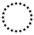 stars in circle icon on white background stars in vector image