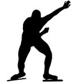 start athlete male speedskater vector image vector image
