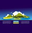 summer natural landscape concept banner vector image