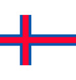 the faroe islands national flag vector image