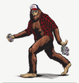 walking usa american hillbilly sasquatch vector image vector image