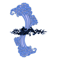 water black dragon vector image vector image