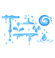 water droplet with different shape and form vector image