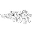 whatever happened to christmas text word cloud vector image vector image