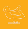 woman international yoga day vector image vector image