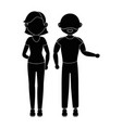 women and man vector image vector image