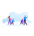 young happy family parents and kids playing vector image vector image