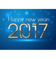 Happy New Year 2017 hand-lettering text on snowy vector image