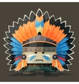 an American Indian in the wild west vector image