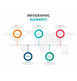 colorful business timeline infographics elements vector image