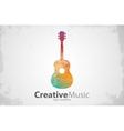 Guitar logo Creative guitar logo Music logo vector image