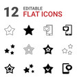 12 review icons vector image vector image