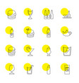16 drink icons vector image vector image