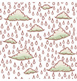 abstract background with rain and cloud vector image vector image