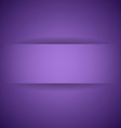 Abstract violet paper with shadow background vector image vector image