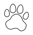 animal foot print icon vector image vector image
