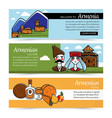 armenian culture and food web pages nature and vector image vector image