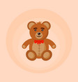 bear toy colored cartoon vector image