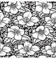 black and white flower vector image