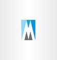 blue grey letter m logo vector image vector image