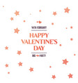 bright sales flyer with stars for valentines day vector image vector image