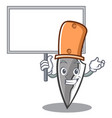 bring board knife character cartoon style vector image