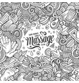 cartoon cute doodles massage frame vector image vector image
