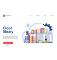 cloud library cartoon flat vector image vector image