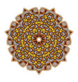 Colorful mandala on a white background