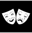 comedy and tragedy theater masks icon vector image vector image