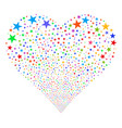 confetti star fireworks heart vector image vector image