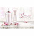 cosmetics bottles skin care mockup beauty product vector image vector image