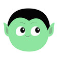count dracula round head cute cartoon funny vector image vector image