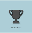 cup of the winner on a blue background vector image