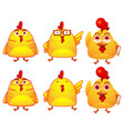 cute chicken vector image vector image
