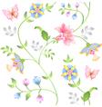 decor seamless floral vector image