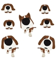Dog with large head and nose vector image vector image