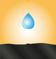 drop of water falls to the ground vector image vector image
