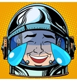 emoticon laughter tears Emoji face man astronaut vector image vector image