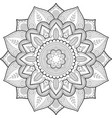 entangle mandala floral design coloring book 3-21 vector image