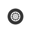 flat truck wheel icon or logo element vector image vector image