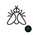 fly simple line icon outline style gadfly symbol vector image vector image