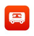 food trailer icon digital red vector image vector image