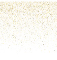 glitter background cute small falling golden dots vector image