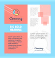 graph company brochure title page design company vector image vector image