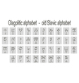 icons with Glagolitic old Slavic alphabet vector image