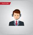 isolated secretary flat icon hotline vector image vector image