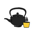 japanese kettle teapot ceramic beverage vector image vector image