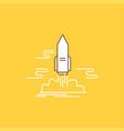 launch publish app shuttle space flat line filled vector image